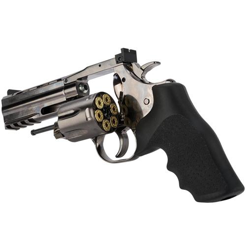 4 Inch BB Revolver - Steel Grey