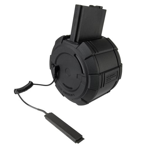ICS Electric 6mm M4 Guns Drum Magazine - 2000rd