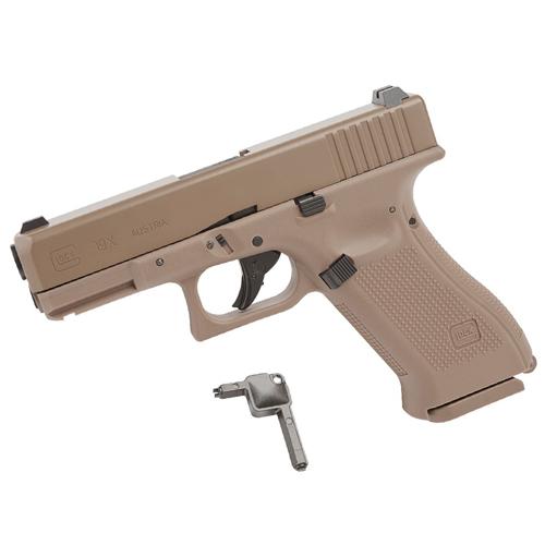 Glock 19X CO2 Blowback Steel BB gun - Tan