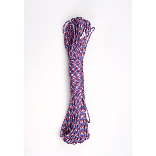 100 ft Blue-White-Red Military Paracord