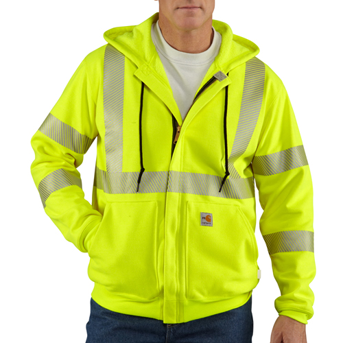 Flame Resistant Heavy Weight High Visibility Class 3 Sweatshirt