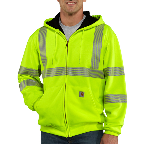 High-Visibility Zip-Front Thermal-Lined Sweatshirt