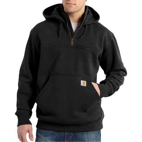 Rain Defender Hooded Zip Mock Sweatshirt
