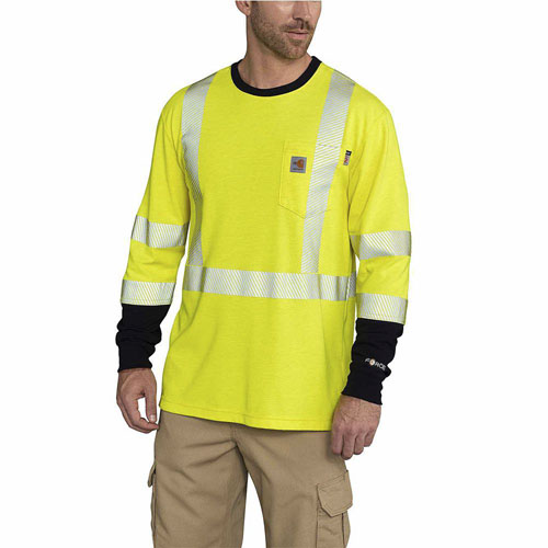 Carhartt Flame-Resistant High-Visibility Class 3 Long-Sleeve T-Shirt