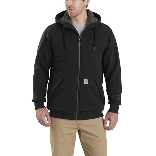 Carhartt Rain Defender Rockland Sherpa Lined Hooded Sweatshirt