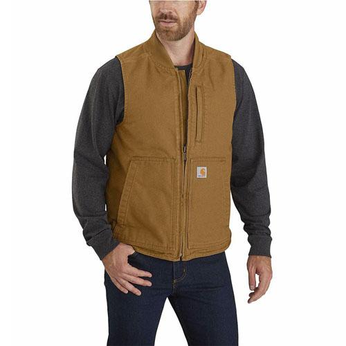 Carhartt Mens OV395 Washed Duck Vest