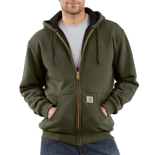 Thermal Lined Zip Front Hooded Sweatshirt