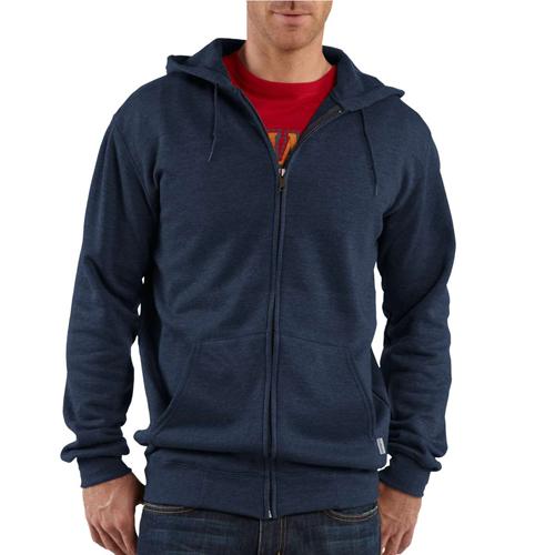 Lightweight Hooded Zip-Front Sweatshirt