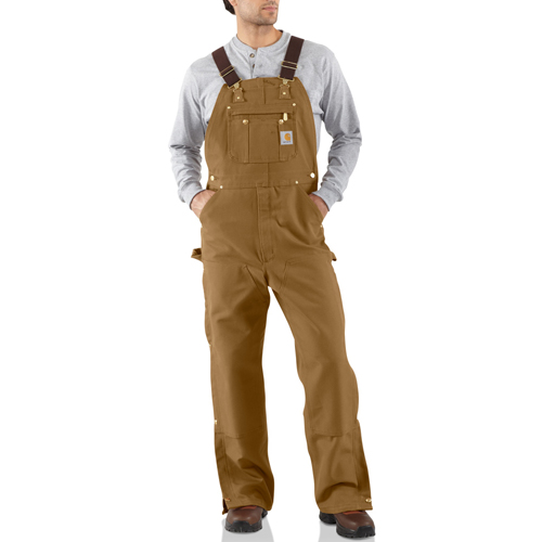 Duck Zip To Thigh Unlined Bib Overall