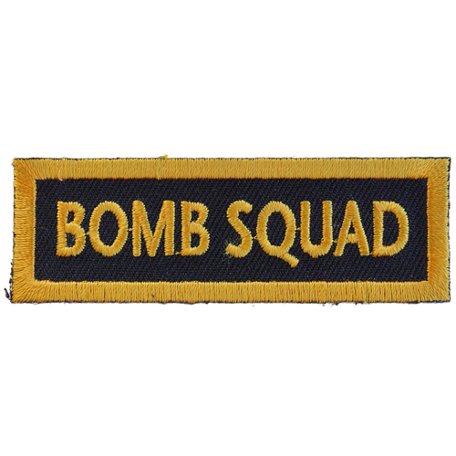 CP 3x1 Inch Bomb Squad Funny Name Tag Patch