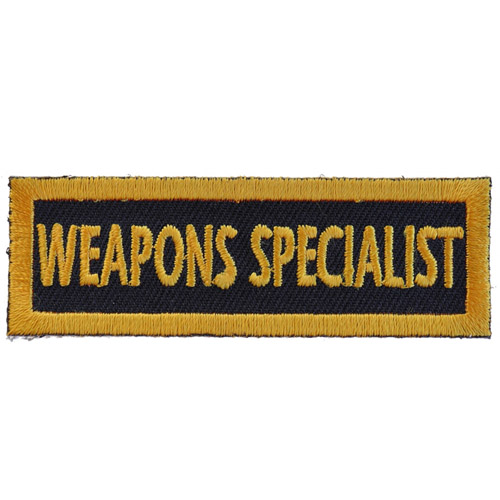 Weapons Specialist Name Tag Patch - 3x1 Inch