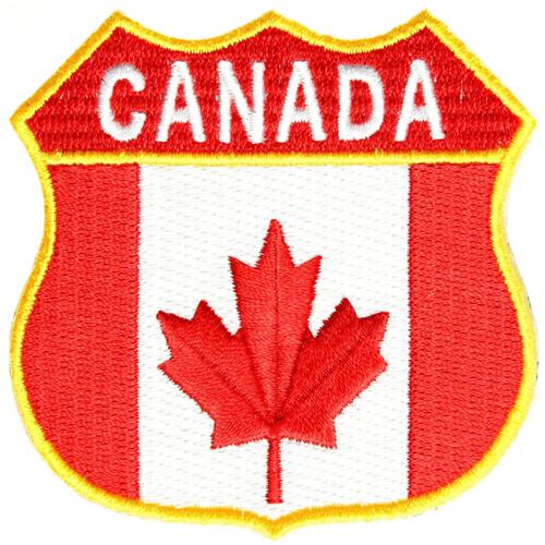 Canada Shield Flag Patch - 2.75x2.75 Inch
