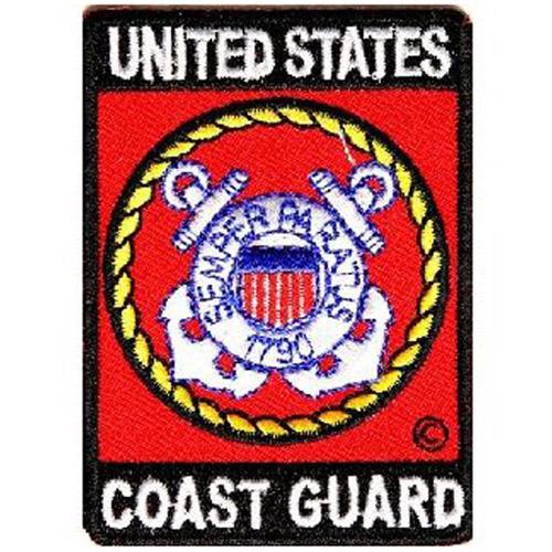 CP 2x2.75 Inch US Coast Guard Rect Patch