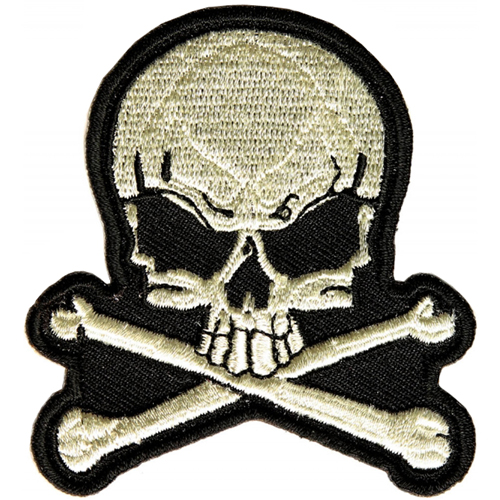 Skull and Bones Small Patch - 2.5x2.75 Inch