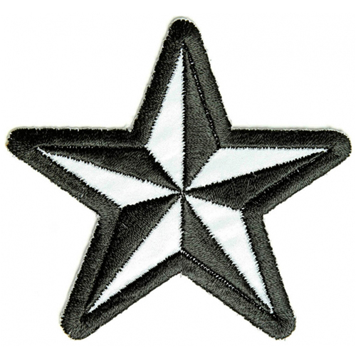 CP 3x3 Inch Reflective Nautical Star Patch