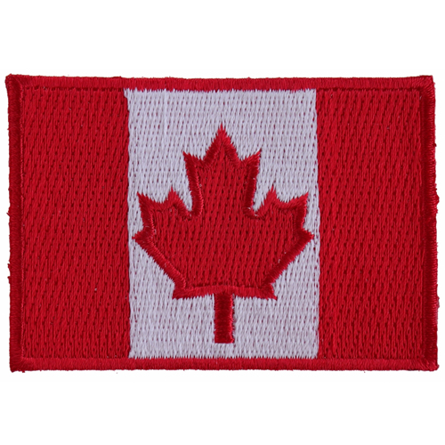 Canada Flag Small Embroidered Patch - 3x2 Inch