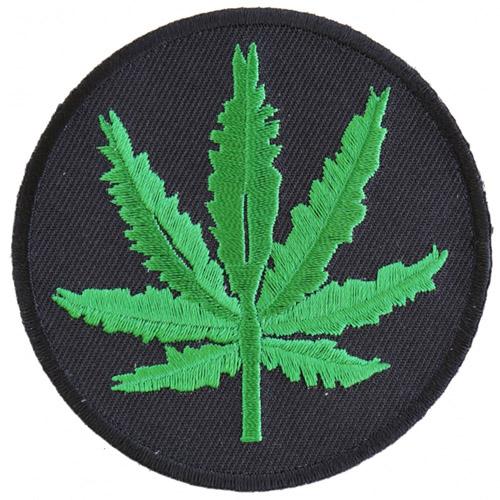 Marijuana Leaf Embroidered Patch - 3x3 Inch