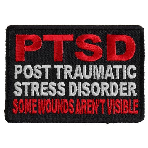 Some Wounds are not Visible PTSD Patch for Vets