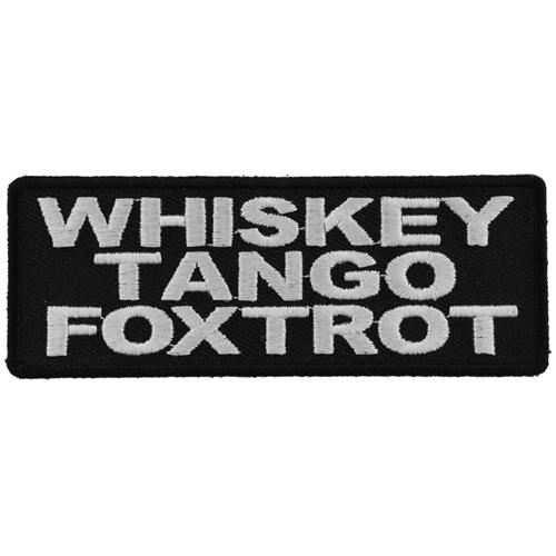 Whiskey Tango Foxtrot Patch - 4x1.5 Inch