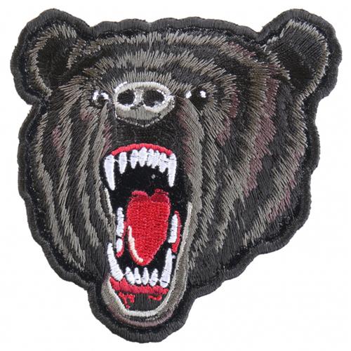 Small Black Bear Biker Patch - 3.5x4 Inch