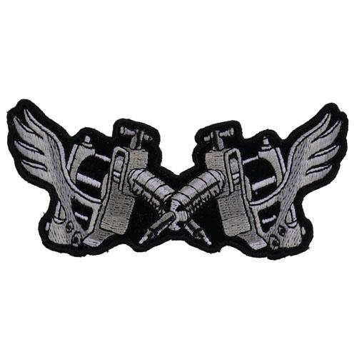 Tattoo Guns Wings Patch Small