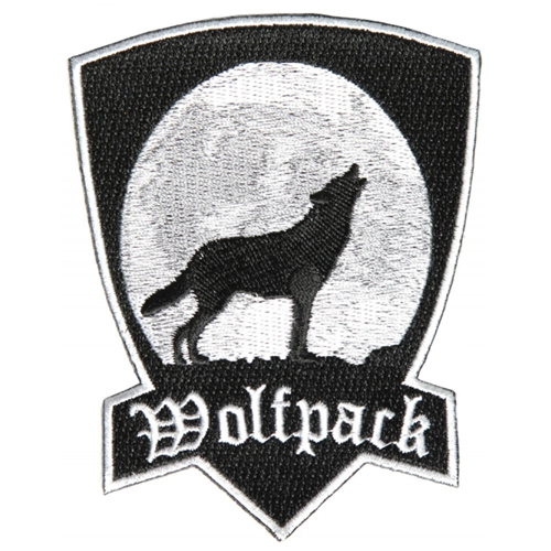 Wolfpack Howling Wolf Patch - 3x4 Inch