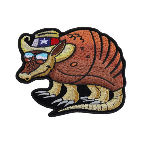 CP 4.5x3.5 Inch Texas Armadillo Patch For Texan Natives