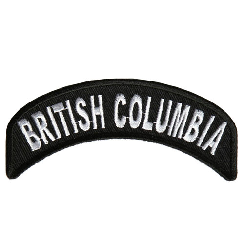 British Columbia State Embroidered Patch