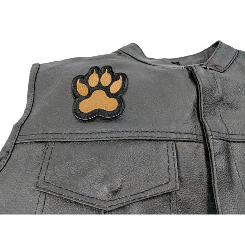 Canine Paw Print Iron On Patch