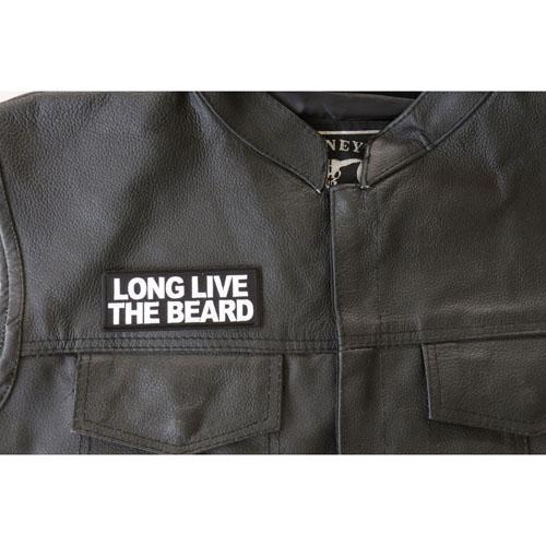 Long Live The Beard Patch 4x1.5 Inch