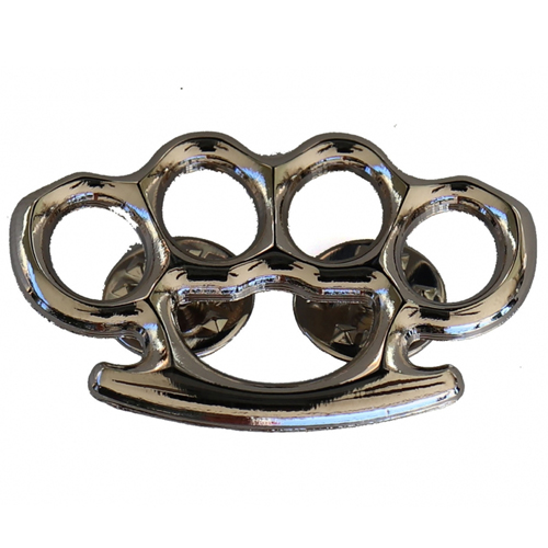 Silver Knuckle Pin - 1.5x1 Inch