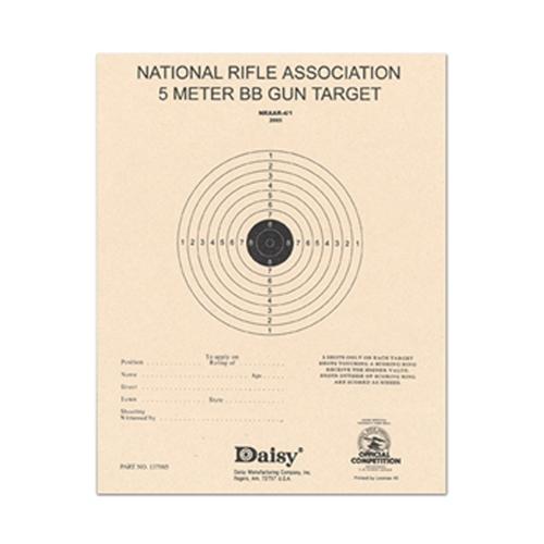 Official NRA 5-Meter BB Target