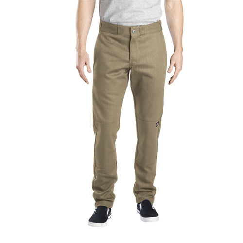 Khaki WP811 Double Knee Skinny Fit Pants