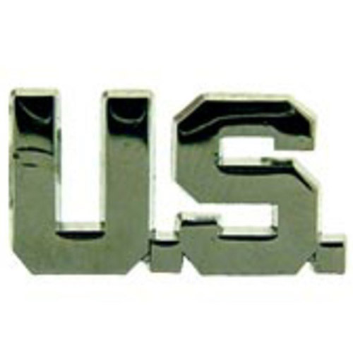 Eagle Emblems U.S. Silver Letters Pin - 1 Inch