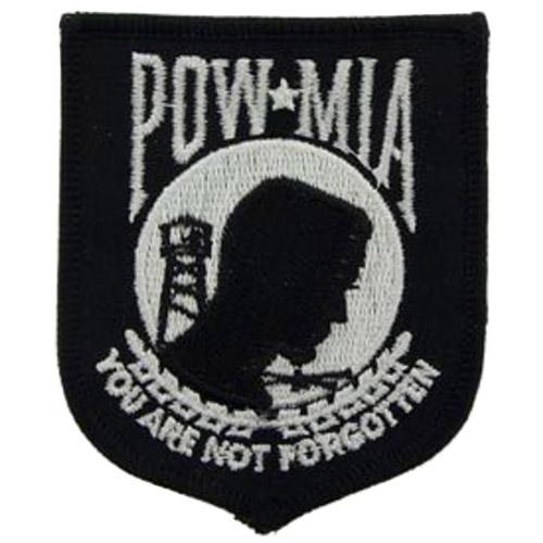 Eagle Emblems 3 Inch POWMIA Patch
