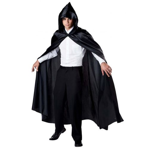 75 Inch Black Hooded Cape