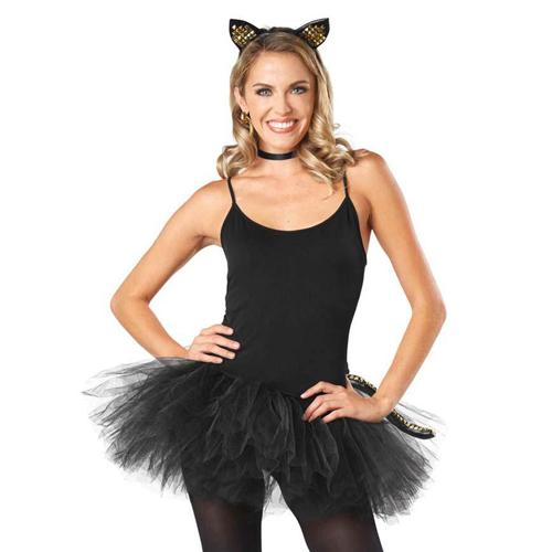 Women Punky Kitty Costume Kit
