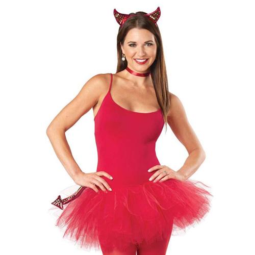 Women Punky Devil Costume Kit