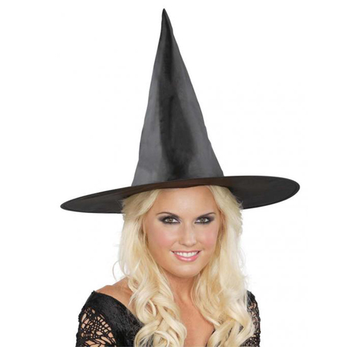 17 Inch Basic Witch Hat - Black