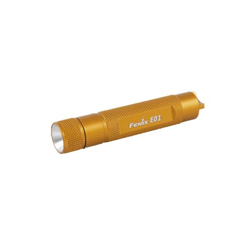 Fenix E01 - 10 Lumen Yellow Flashlight