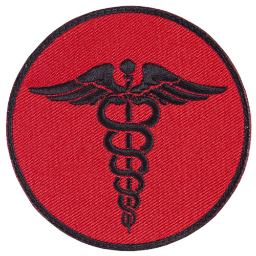 FOX OUTDOOR EMS ROUND PATCH - RED