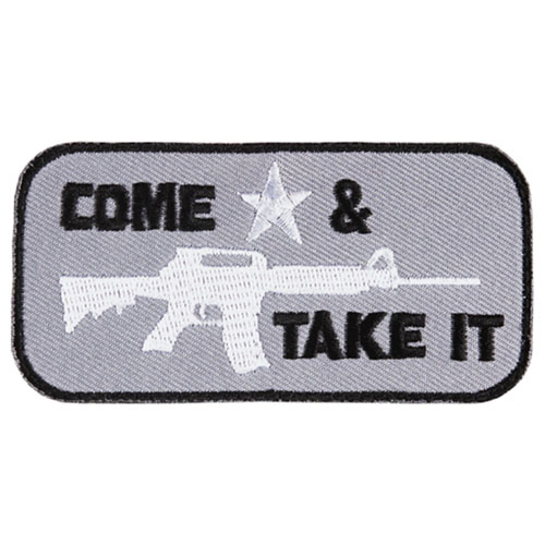 FOX OUTDOOR COME & TAKE IT PATCH - GREY