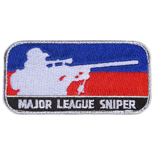 FOX OUTDOOR MAJOR LEAGUE SNIPER PATCH - BLUE / RED