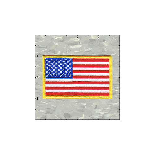 Flag Stars And Stripes Gold Border Patch
