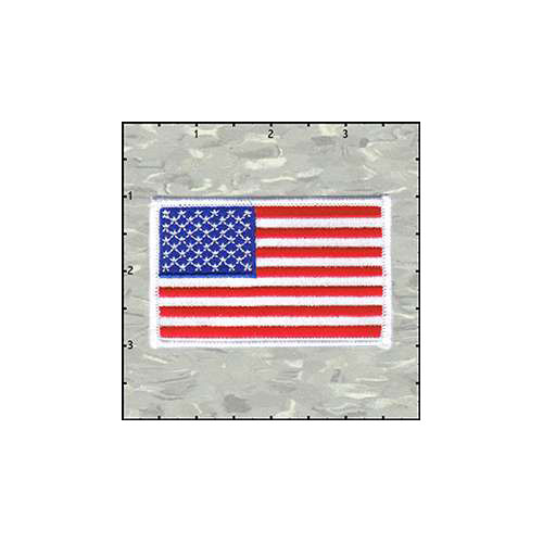 Flag Stars And Stripes White Border Patch