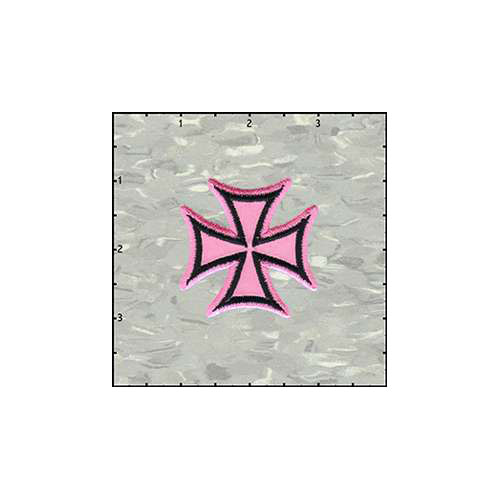 Maltese Cross Velveteen 2 Inches Pink patch