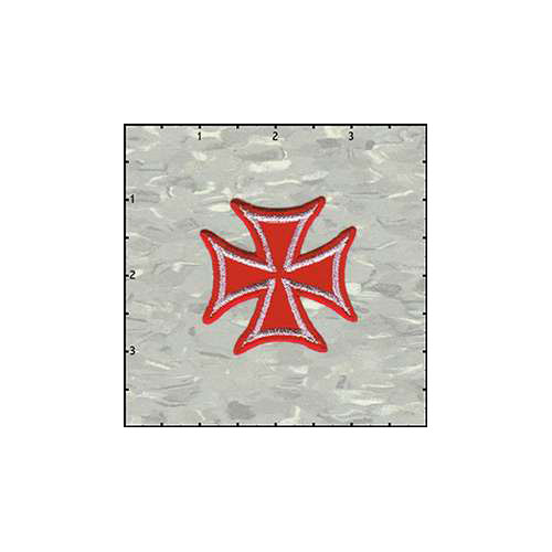 Maltese Cross Velveteen 2 Inches Red patch