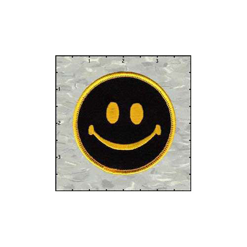 Smiley Reverse 3 Inches Patch