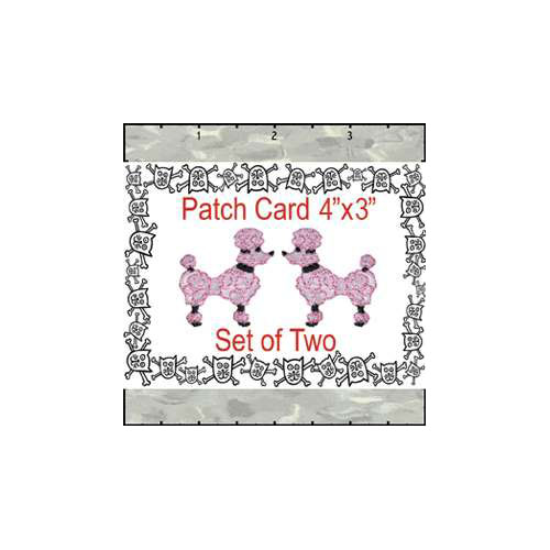 Poodle Satin 1.25 Inches Set Patch