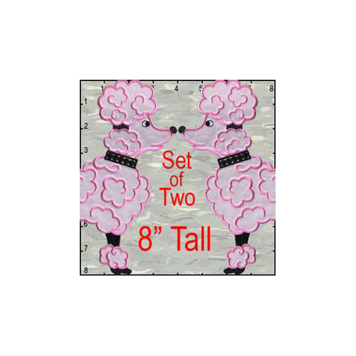 Poodle Satin 8 Inches Set Patch